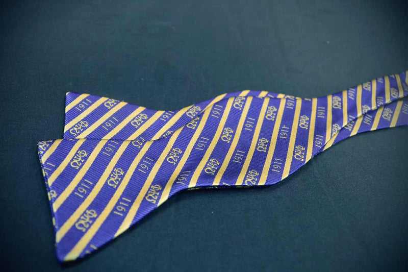 Self Tie 1911 Bow Tie - Omega Psi Phi -Greek_Paraphernalia - M3 Greek