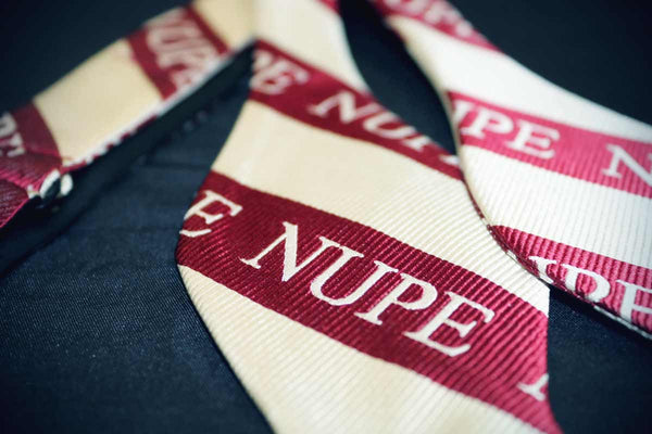 Self Tie Nupe Bow Tie - Kappa Alpha Psi -Greek_Paraphernalia - M3 Greek