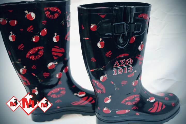 Rubber Rain Boots - Delta Sigma Theta™ -Greek_Paraphernalia - M3 Greek