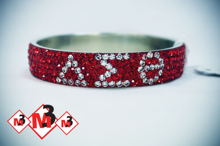 Greek Letter Crystal bracelet - Delta Sigma Theta®️ -Greek_Paraphernalia - M3 Greek