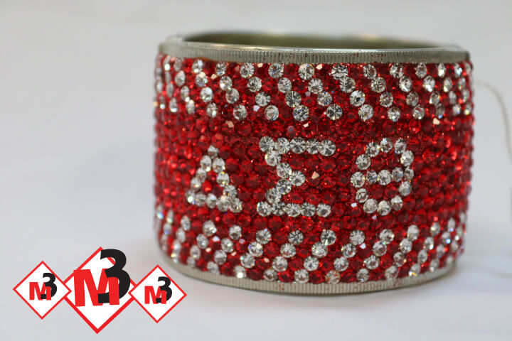 Large Crystal Bracelet - Delta Sigma Theta®️ -Greek_Paraphernalia - M3 Greek