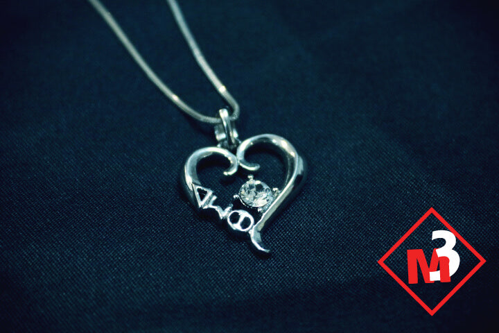 Sterling Heart Pendant - Delta Sigma Theta™ -Greek_Paraphernalia - M3 Greek