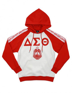 Pre-Decorated Twill Letter Hoodie - Delta Sigma Theta®️ -Greek_Paraphernalia - M3 Greek
