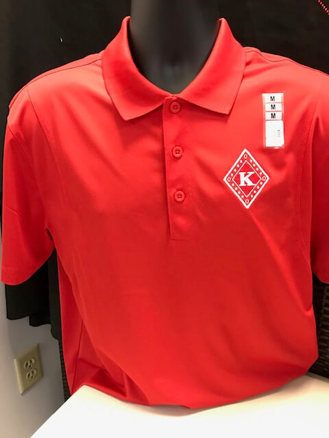 M3GREEK®️ Kappa Diamond Badge Polo - Kappa Alpha Psi -Greek_Paraphernalia - M3 Greek
