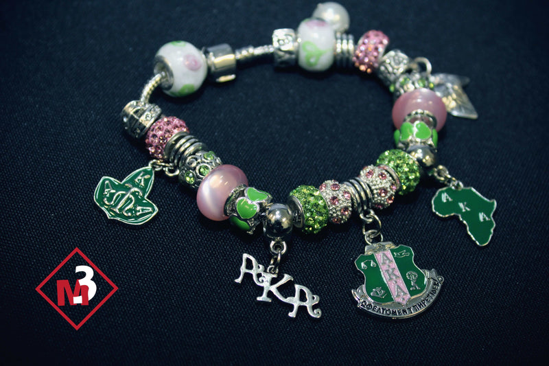 Sorority Charm Bracelet - Alpha Kappa Alpha™ - M3 Greek