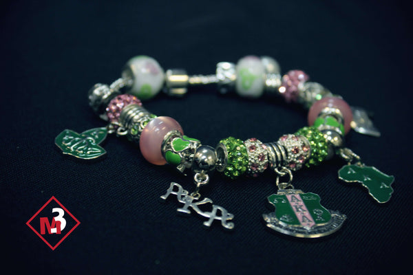 Sorority Charm Bracelet - Alpha Kappa Alpha™ -Greek_Paraphernalia - M3 Greek