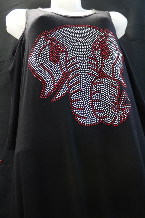 Cold Shoulder Dress with Lovely Elephant design -Greek_Paraphernalia - M3 Greek