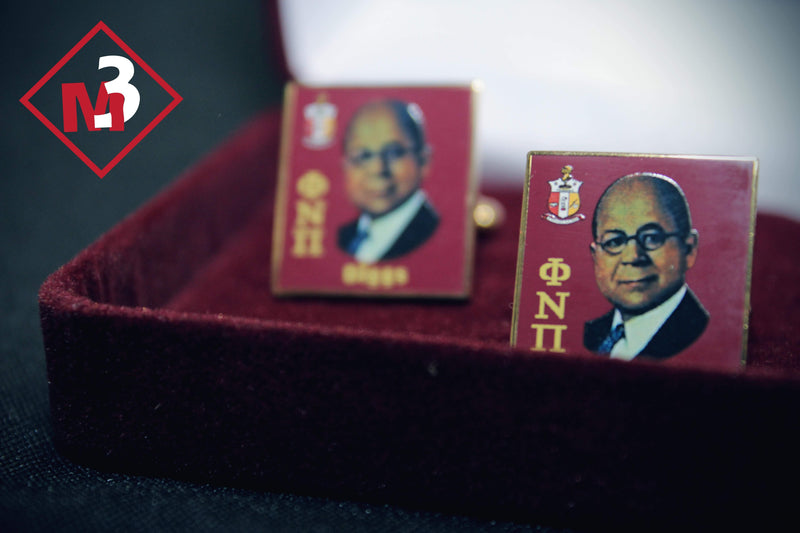Diggs Square Cufflinks - Kappa Alpha Psi -Greek_Paraphernalia - M3 Greek