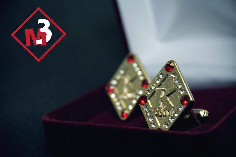 Diamond K Jewel & Stone CuffLinks - Kappa Alpha Psi - M3 Greek