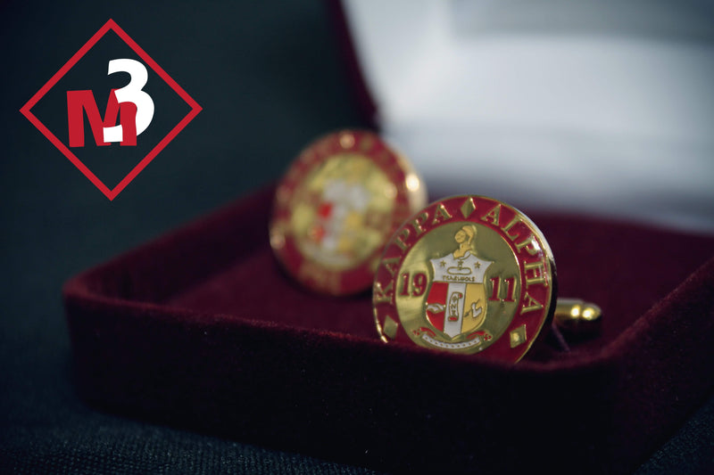 Round Coat of Arms Cufflink Set - Kappa Alpha Psi - M3 Greek