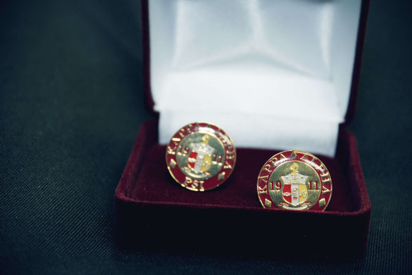 Round Coat of Arms Cufflink Set - Kappa Alpha Psi -Greek_Paraphernalia - M3 Greek
