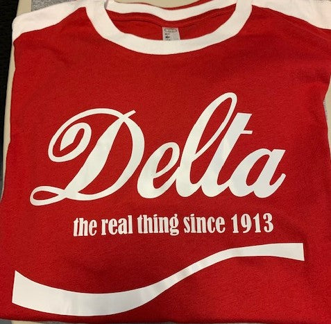 Delta, The Real thing Tee- Delta Sigma Theta®️ -Greek_Paraphernalia - M3 Greek