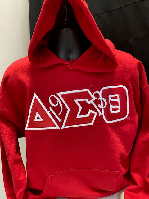 Twill Letter Hoodie with a Twist - Delta Sigma Theta®️