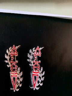 Rhinestone Lapel Pins- Delta Sigma Theta®️ -Greek_Paraphernalia - M3 Greek