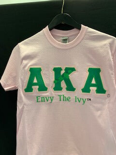Envy the Ivy Greek Letter Tee - Alpha Kappa Alpha®️ -Greek_Paraphernalia - M3 Greek