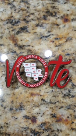 Central Region VOTE Pin - Delta Sigma Theta®️