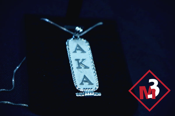 Cartouche Pendant - Alpha Kappa Alpha™ -Greek_Paraphernalia - M3 Greek