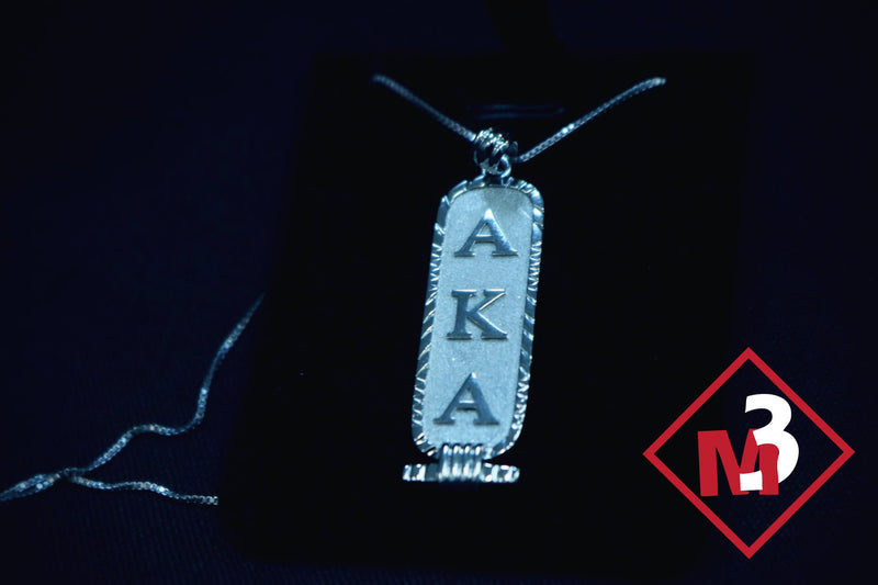 Cartouche Pendant - Alpha Kappa Alpha™ - M3 Greek