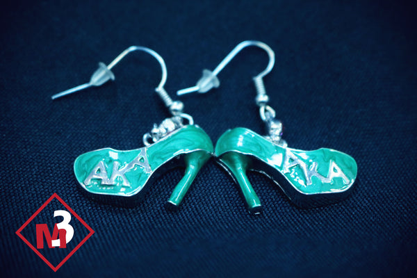 Heel Earrings - Alpha Kappa Alpha™ -Greek_Paraphernalia - M3 Greek