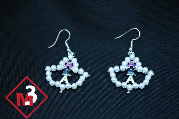 Pearl Earrings - Alpha Kappa Alpha™ -Greek_Paraphernalia - M3 Greek