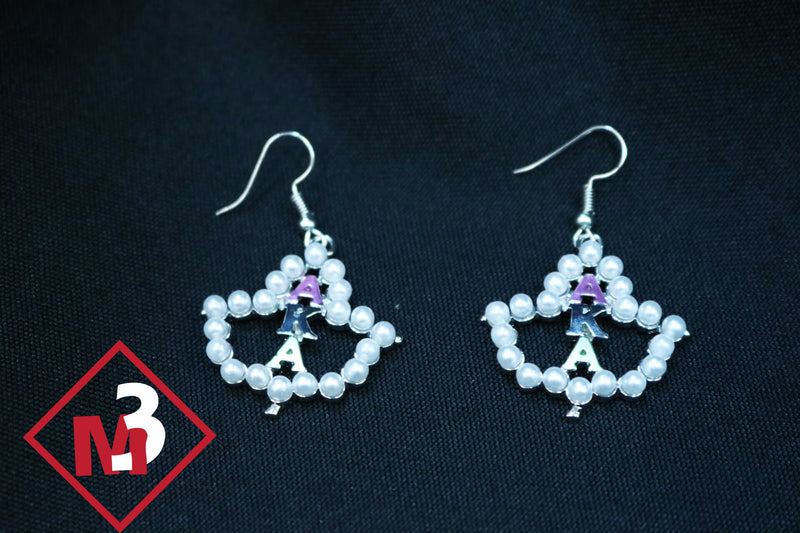 Pearl Earrings - Alpha Kappa Alpha™ - M3 Greek