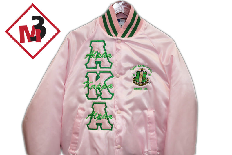 fa37d06ad79 Satin Baseball Jacket - Alpha Kappa Alpha™ -Greek_Paraphernalia - M3 Greek