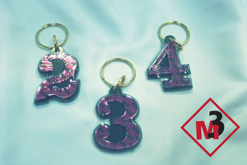 Line Number Key Chains - Alpha Kappa Alpha®️ -Greek_Paraphernalia - M3 Greek