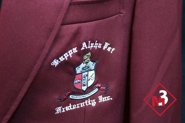 Crimson or Cardinal Red - Kappa Alpha Psi Fraternity Blazer -Greek_Paraphernalia - M3 Greek