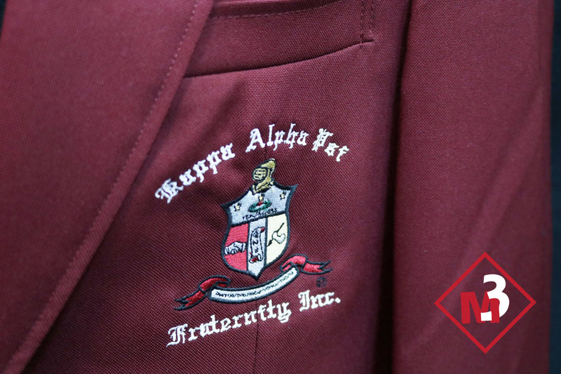 Crimson or Cardinal Red - Kappa Alpha Psi Fraternity Blazer - M3 Greek