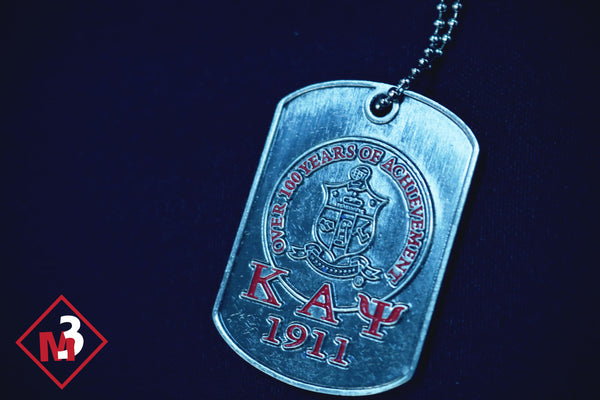 Achievement & Founders Dog Tag : Kappa Alpha Psi - M3 Greek
