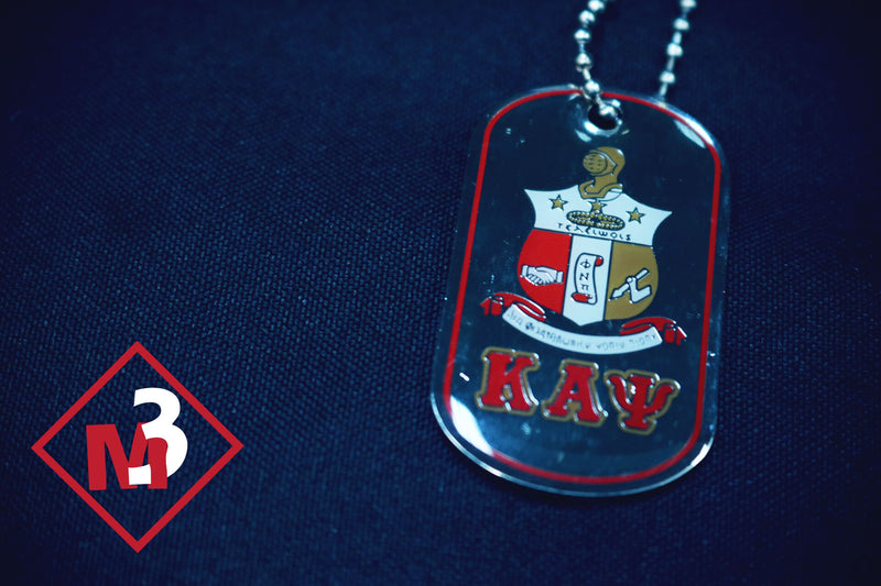 Double Sided Greek Letter Dog Tags with epoxy coating: Kappa Alpha Psi -Greek_Paraphernalia - M3 Greek