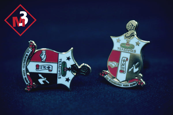 Coat of Arms Cufflinks - Kappa Alpha Psi -Greek_Paraphernalia - M3 Greek
