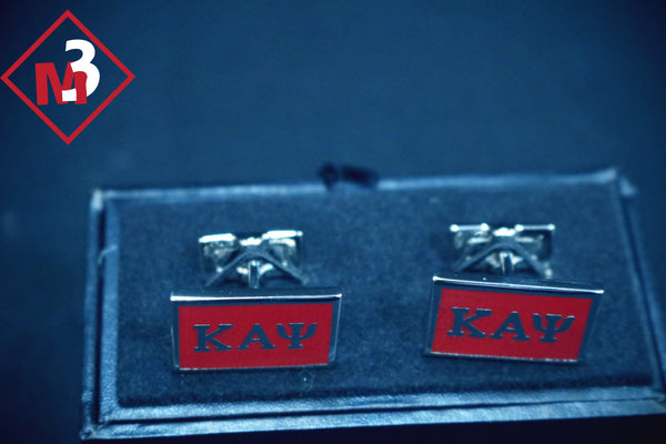 Rectangular Cuff Links - Kappa Alpha Psi -Greek_Paraphernalia - M3 Greek