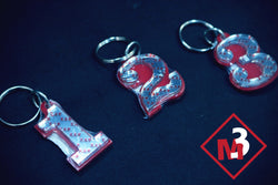 Line Number Key Chains - Kappa Alpha Psi -Greek_Paraphernalia - M3 Greek
