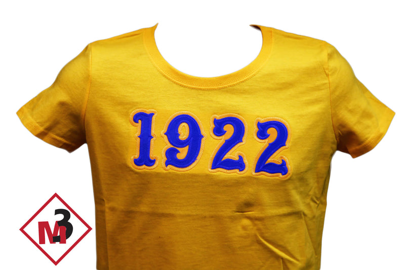 1922 Twill Letter Tee - Sigma Gamma Rho -Greek_Paraphernalia - M3 Greek