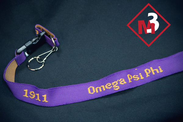 PVC Lanyard - Omega Psi Phi - M3 Greek