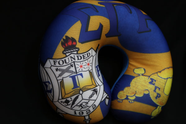 Travel Pillow -Sigma Gamma Rho -Greek_Paraphernalia - M3 Greek