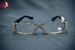 Rectangle Shape Pink and Green Bling Readers -Greek_Paraphernalia - M3 Greek