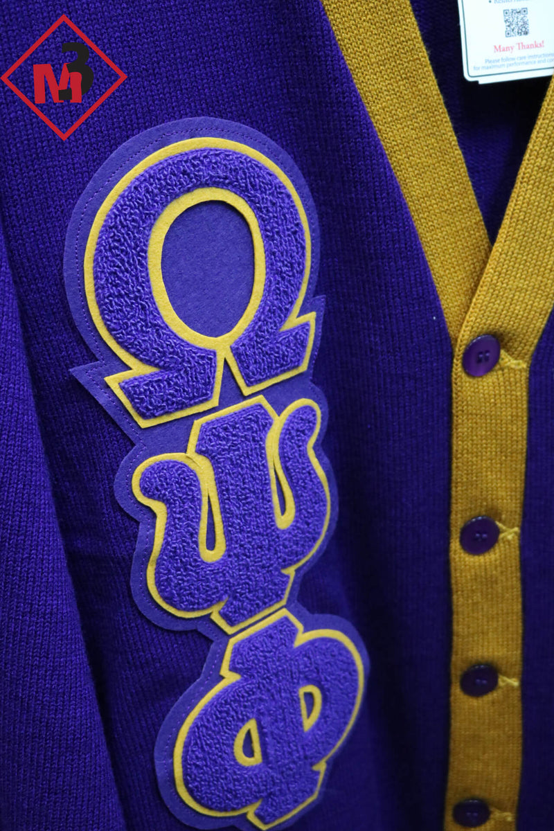 Two Color Cardigan - Omega Psi Phi - M3 Greek