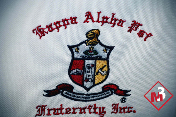 White -50 year Kappa Alpha Psi Fraternity Blazer -Greek_Paraphernalia - M3 Greek