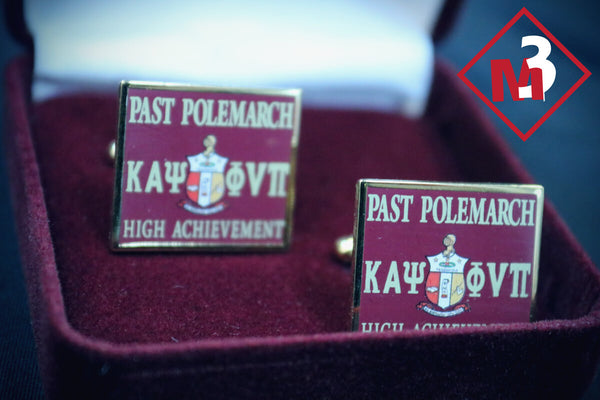 Past Polemarch Square Cufflinks - Kappa Alpha Psi -Greek_Paraphernalia - M3 Greek