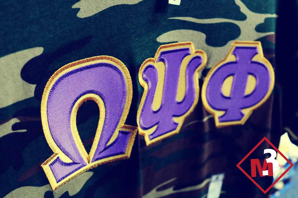 Twill Camo Tee - Omega Psi Phi®️ -Greek_Paraphernalia - M3 Greek