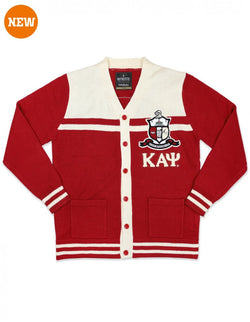 Two Color Fraternity Varsity Cardigan Sweater - Kappa Alpha Psi®️