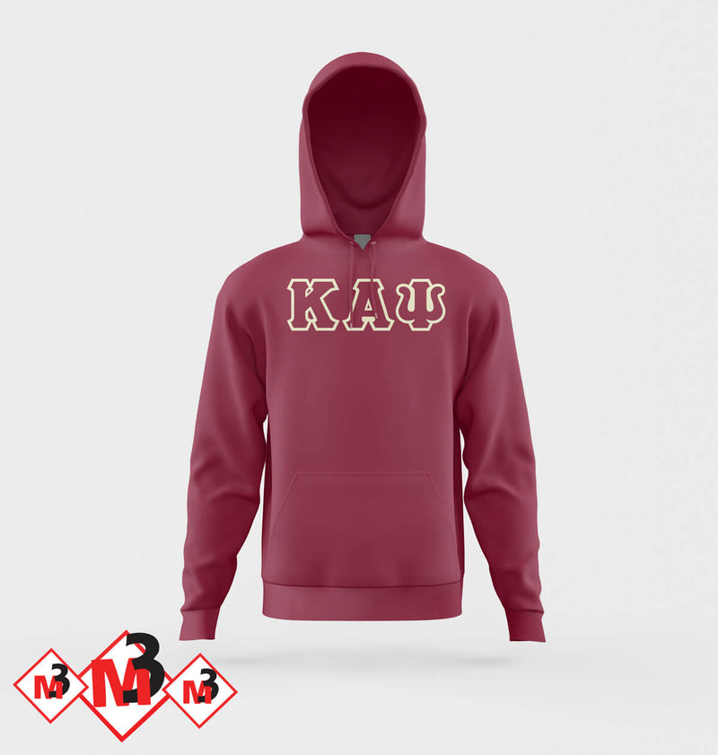 Twill Letter Hoodies - Kappa Alpha Psi -Greek_Paraphernalia - M3 Greek