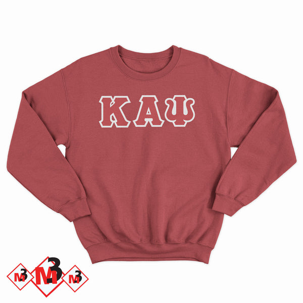 Twill Letter Sweatshirt- Kappa Alpha Psi -Greek_Paraphernalia - M3 Greek