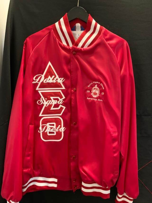 M3 Custom Satin Baseball Jacket - Delta Sigma Theta®️ -Greek_Paraphernalia - M3 Greek