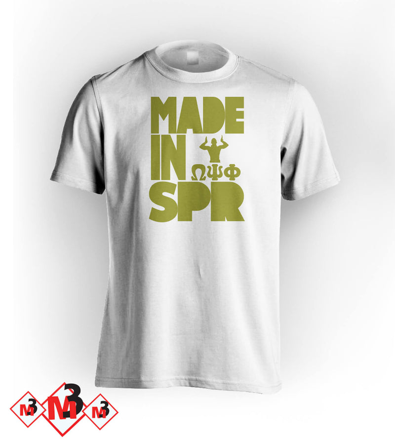 MADE In SPRING Omega Tee -Greek_Paraphernalia - M3 Greek