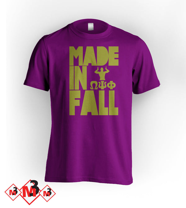 MADE In FALL Omega Tee - Omega Psi Phi -Greek_Paraphernalia - M3 Greek