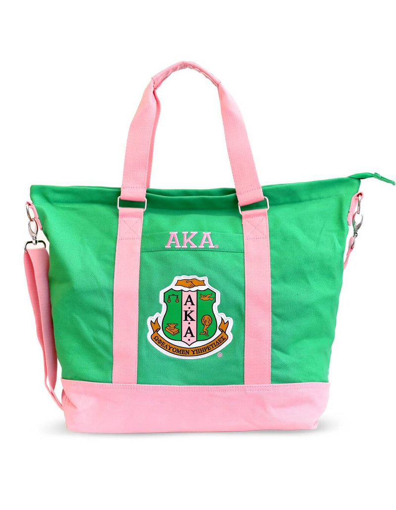 Large Canvas Tote Bag - Alpha Kappa Alpha®️ -Greek_Paraphernalia - M3 Greek