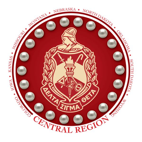 Central Region Collection -Delta Sigma Theta®️  -  THIS PICTURE IS FOR DISPLAY PURPOSES ONLY. CREST CANNOT BE ORDERED.  PLEASE REVIEW THE OTHER TWO ITEMS TO PLACE YOUR ORDER.